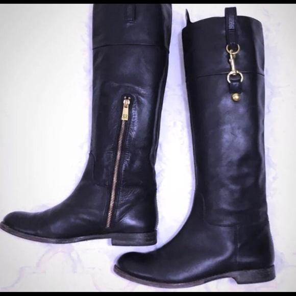 Authentic Coach Black Riding Boots 6.5
